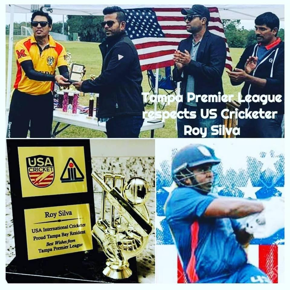 Tampa Premier League Honors Current USA International Cricketer ''Roy Silva''